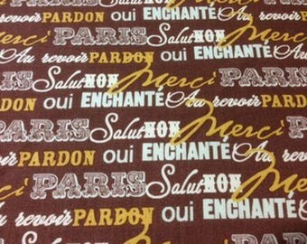 Paris and Company collection Brown patchwork fabric