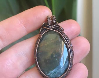 Bloodstone pendant || copper