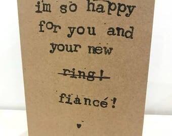 Engagement Card - handmade greeting card
