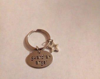 Guardian angel star  keychain