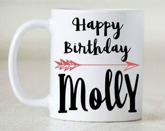 Happy Birthday, Custom Birthday, Personalized Birthday, Birthday Mug, Gift for Boss, Gift for Coworker, Office Gift