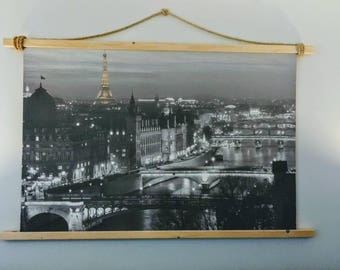 Rustic Paris Photo Hanging, Classy Shabby Chic