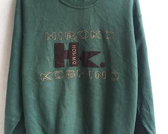 Vintage hiroko koshino sweatshirt / hiroko koshino t-shirt / hiroko koshino jacket