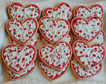 50 Heart Shaped Pizza Cookies