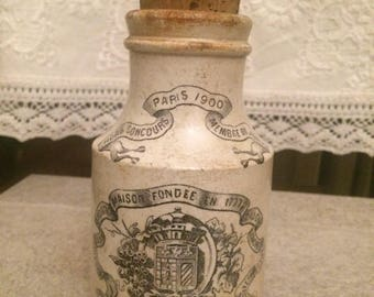 Antique French Dijon Mustard Jar
