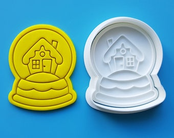 Snow Globe - Winter House Cookie Cutter and Stamp