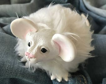 Small OOAK Stuffed Animal Mouse