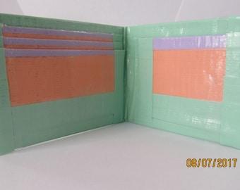 Mint Green Duct Tape Wallet