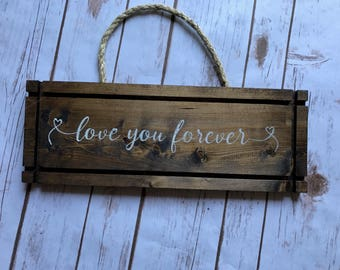 Wooden Sign | Wedding Sign | Wedding Gift | 5th Anniversary Sign | Wooden Bedroom Sign | Home Decor | Bedroom Decor | Anniversary Gift |