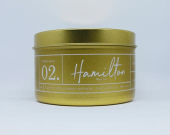 Fresh Basil - 8 oz. Gold Tin Soy Wax Candle