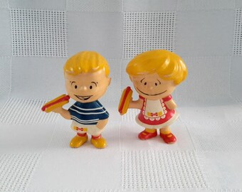 Set of Two Hygrade Soft Plastic Figurines