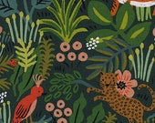 Menagerie Canvas Fabric - Jungle Hunter- Cotton + Steel Fabric - Rifle Paper Co Fabric - Cotton Linen Canvas - 8041-12 - Fabric by the Yard