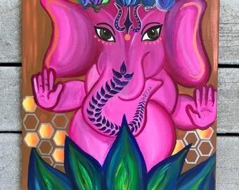 Original Ganesha Acrylic Painting