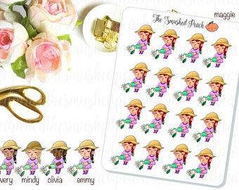 Gardening and Flowers - Hand Drawn Planner Sticker Sheet