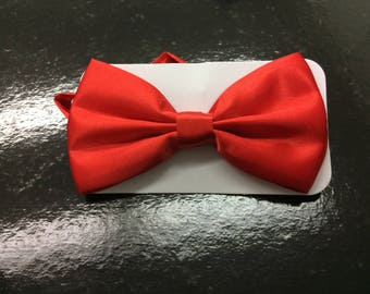 Red Bow Tie & Black Suspenders Set