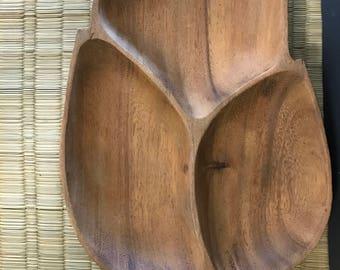 Beautiful vintage wood tray
