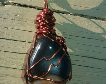 Beautiful handmade wire wrapped Sardonyx necklace