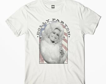 Dolly Parton - Cat White Vintage Look T-Shirt - S M L XL