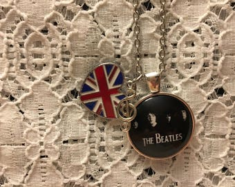 The Beatles Charm Necklace/Beatles Charm Necklace/The Beatles/The Beatles Jewelry/Beatles Jewelry/I Love The Beatles Jewelry/Beatles Fan