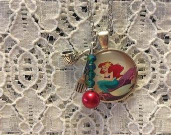 Little Mermaid Charm Necklace/Ariel Charm Necklace/Disney Princess/Little Mermaid Jewelry/Little Mermaid Pendant/Ariel Jewelry