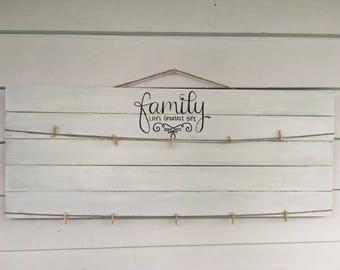 Family Rustic Photo Display