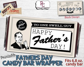 Printable Retro Father's Day Candy Bar Wrapper