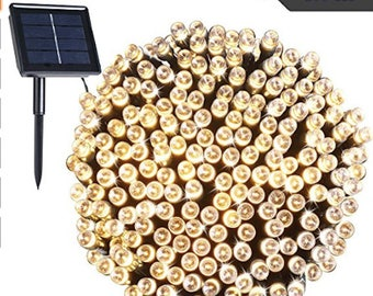 200 LEDs Solar Powered Lights Outdoor String Lights Fairy Lights, Ambiance lights for Patio, Lawn,Garden, Home, Wedding, Holiday