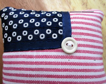 Stars and Stripes pin cushion - USA, Independence day, Red, white and blue