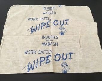 Vintage Shop Towel / Wabash Railroad