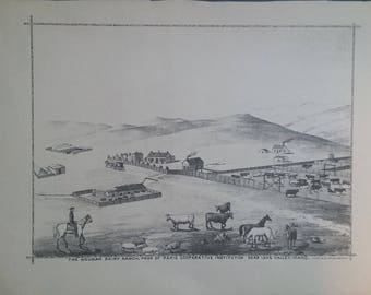 The Nounan Dairy Ranch. 1884 Lithograph