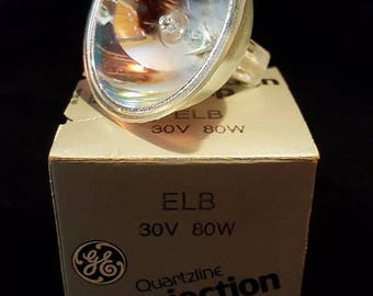 projection lamp ELB 30v 80w quartzline GE