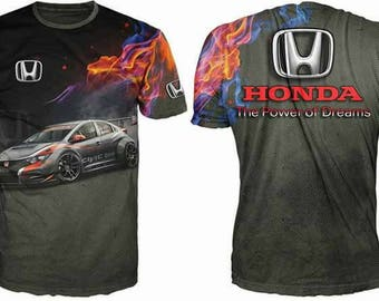New ultramodern 3D  High Quality Honda   Men's T-shirt