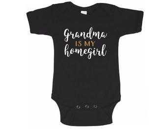 Custom Baby Bodysuit - Custom baby shirt - Grandma baby shirt - custom saying baby outfit - monogram baby - baby shirt -