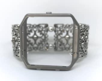 Fitbit // Fitbit Blaze // Fitbit Band // Fitbit Strap // Fitbit Bracelet // Silver // Stretch // Handmade