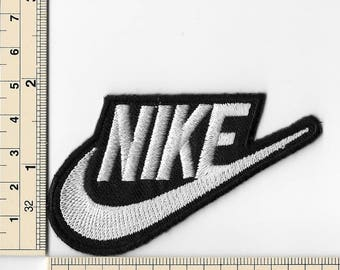 Nike with Tick White & Black design 1 Sports DIY T Shirt Iron on Patches Embroidered Applique Badge Emblem Logo Sew Patch FREE SHIPPING
