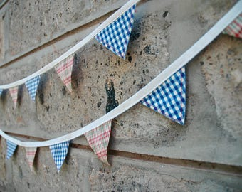 Wee Tartan and Gingham Bunting
