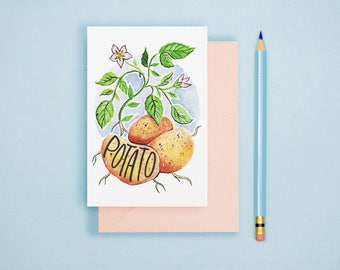 Watercolor Potato Illustration Print - Vegetable Print, Kitchen Decor, Watercolor Art, Watercolor Print, Food Illustration, Kitchen Wall Art