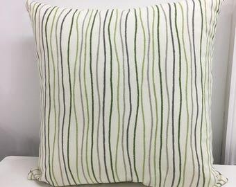 Zipper pillow covers. Farmhouse pillow cover Euro Shams Decorative Pillow Throw pillow lumbar Farmhouse Decor 24x24 26x26 Green Ivory
