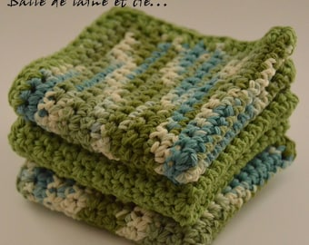 Dishcloth / kitchen crochet discloth lot of 3