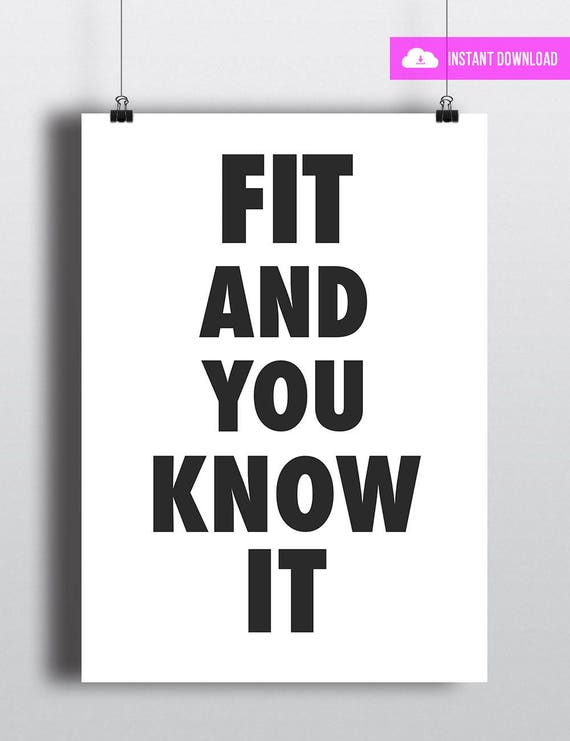 Fit And You Know It | Instant Download