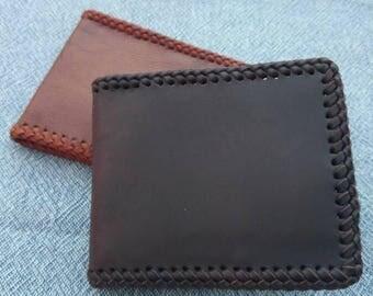 """""""Minimalist"""" leather handbag handmade."""