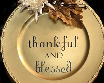Thankful & Blessed Plate