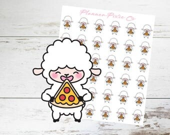 Lamb Planner Stickers // Pizza Night // Cheat Day