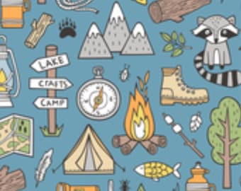 Let's Go Camping Bandana or Bow tie