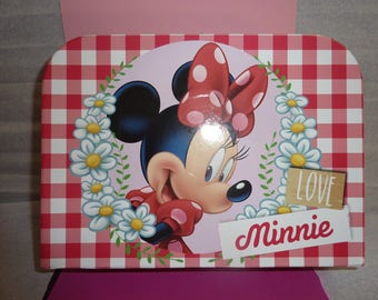 AVAILABLE! Suitcase full Minnie baby! Birthday gift or christening