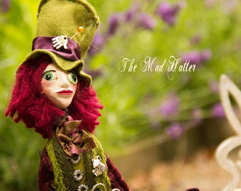 Wiccan Art Doll The Mad Hatter Kievitlane style