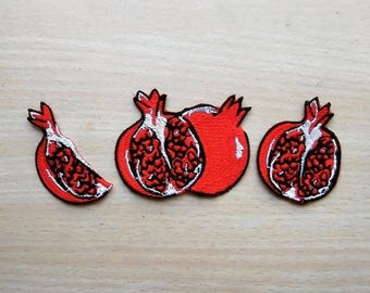 Garnet iron on patch,, pomegranate patch, full embroidery Delicate embroidered patch iron on patches iron on patch sew on patch