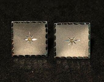 Sterling Silver & CZ Anson Cufflinks