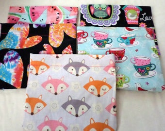 Discounted Reusable Snack Bag Bundle / Back to School / In Stock ready to ship