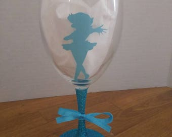 Sailor Mercury glitter wine glass